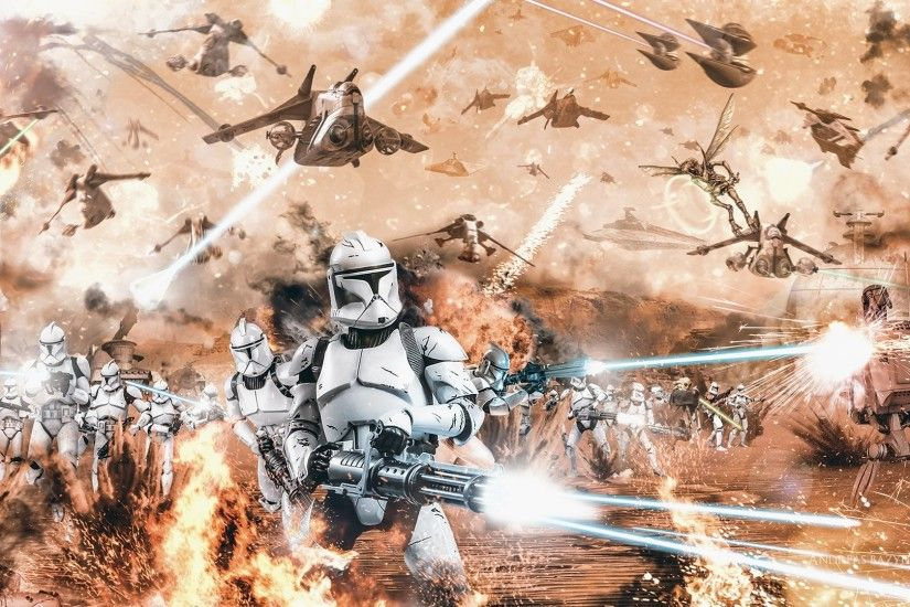 Movie - Star Wars Episode II: Attack Of The Clones Star Wars Clone Trooper  Battle