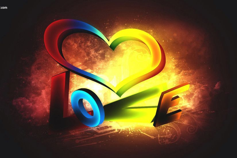 love hd 3D wallpapers YouTube Cover photos