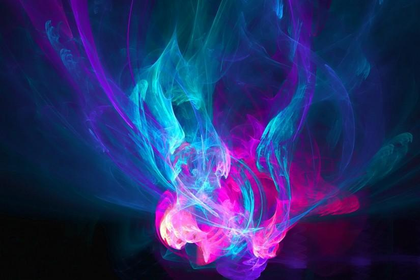 2048x1152 Wallpaper abstraction, light, pink, blue, purple, patterns
