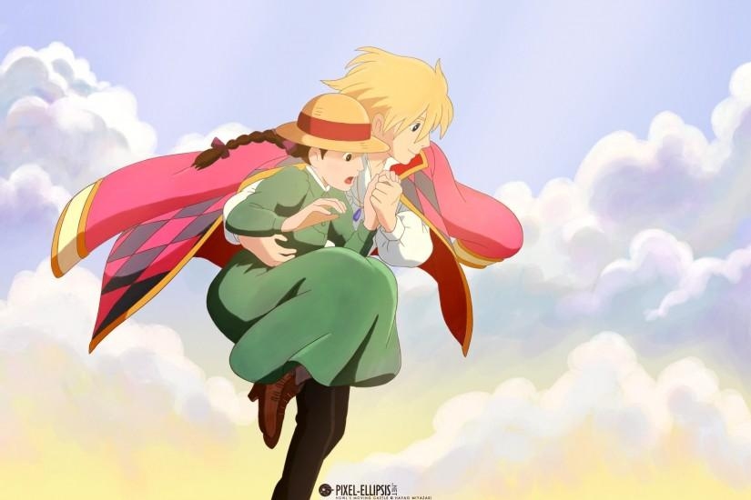 cool howls moving castle wallpaper 1920x1200 for android tablet