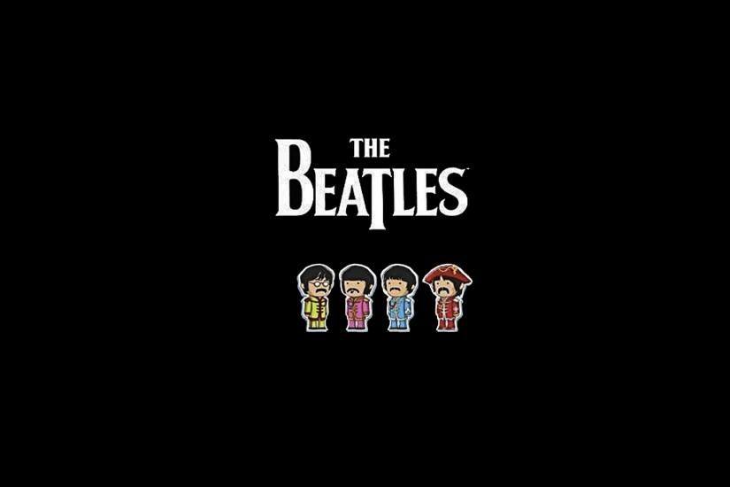 Preview wallpaper the beatles, name, members, picture, font 1920x1080