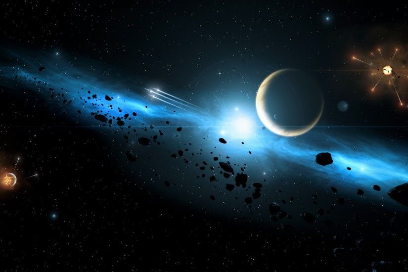 Asteroid in Space Wallpaper
