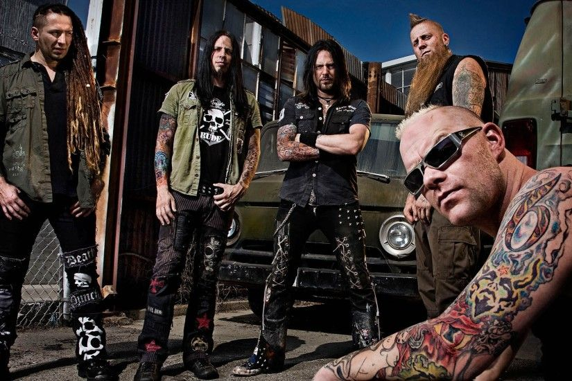 1920x1080 Wallpaper five finger death punch, tattoo, cars, dreadlocks, print