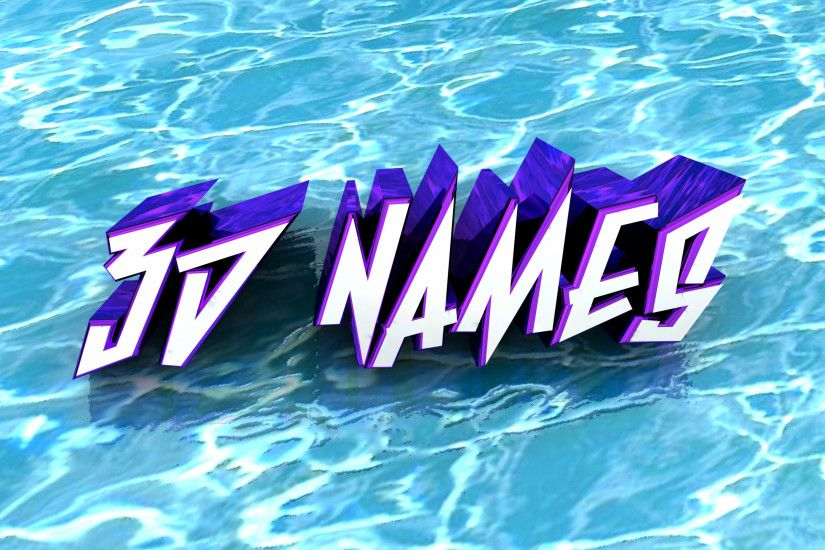 3D Name Water Effect Wallpapers Animations