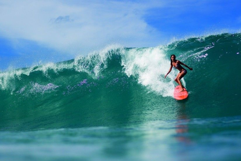... Wallpaper Surfing, Surfer, Girl, Sport, Nike, Bw HD, Picture, ...