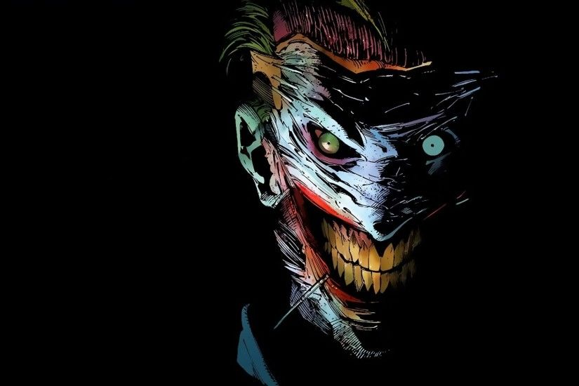 Preview wallpaper joker, dc comics, art 2048x1152