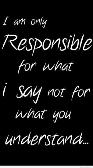 signs sayings responsible iphone 6 plus wallpapers - attitude attitude  quote iphone 6 plus wallpape-