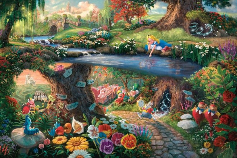 free wallpaper and screensavers for alice in wonderland 1951, Harding  London 2017-03- · Thomas Kinkade DisneyDisney ...
