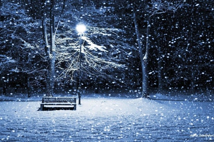 Images For > Christmas Snow Scenes Wallpaper