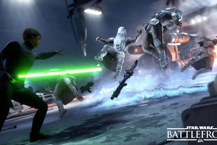 Star Wars Battlefront - Luke Skywalker vs Snowtroopers 1920x1080 wallpaper