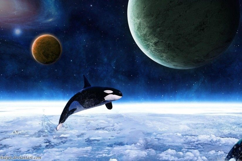 Fantasy Space Killer Whale (id: 186503) | WallPho.com