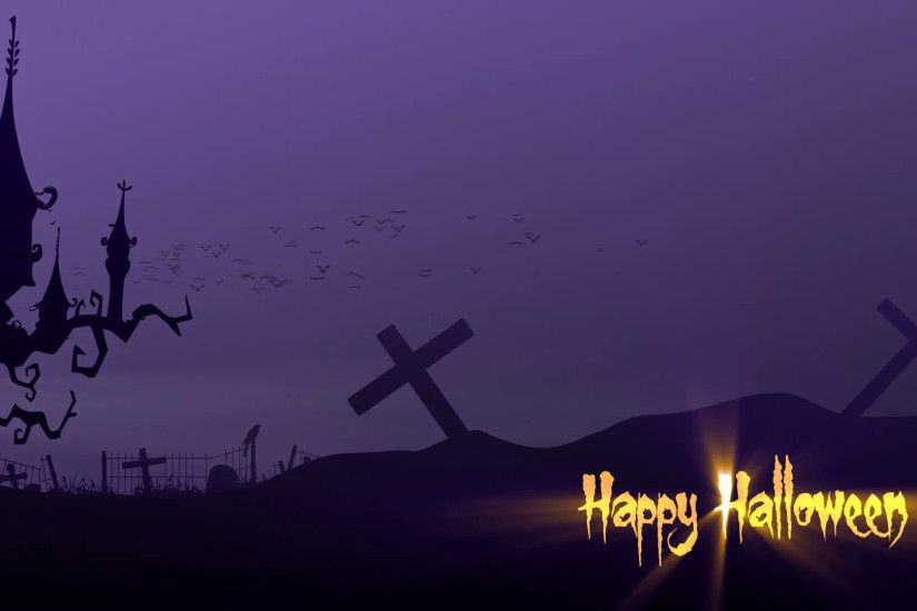 Happy Halloween Spooky House and Graveyard Motion Background - VideoBlocks