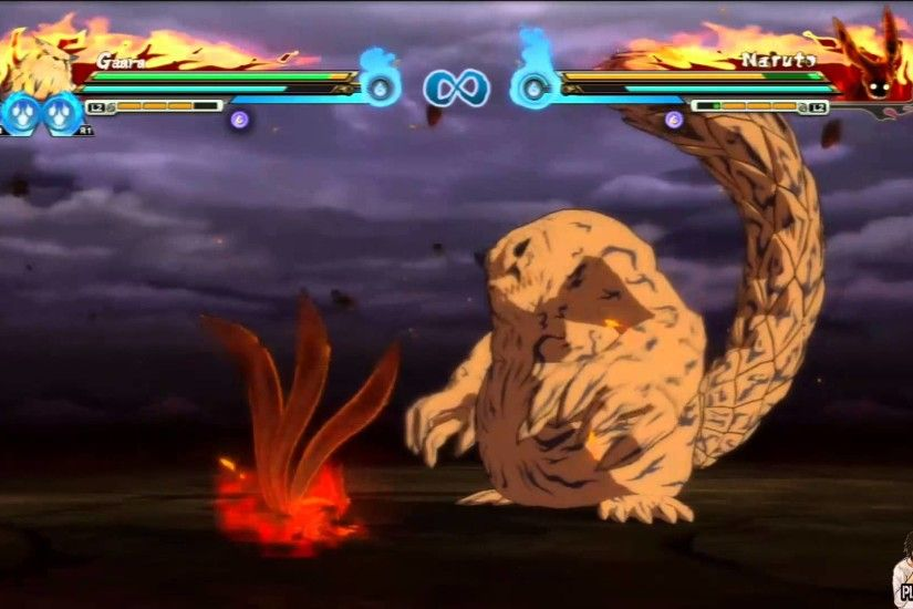 Naruto Shippuden Ultimate Ninja Storm Revolution | Gaara Shukaku vs Naruto  Four Tailed Kurama - YouTube