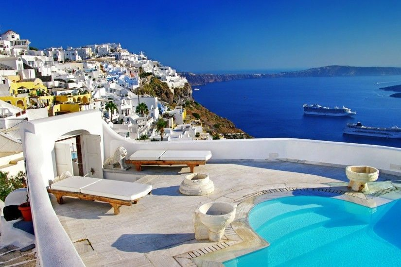 The Island Of Santorini wallpapers