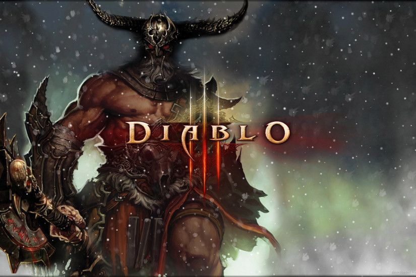 Diablo 3 Snow Barbarian for 1920x1080