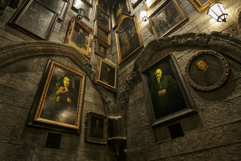The Portrait Gallery located inside Hogwarts castle