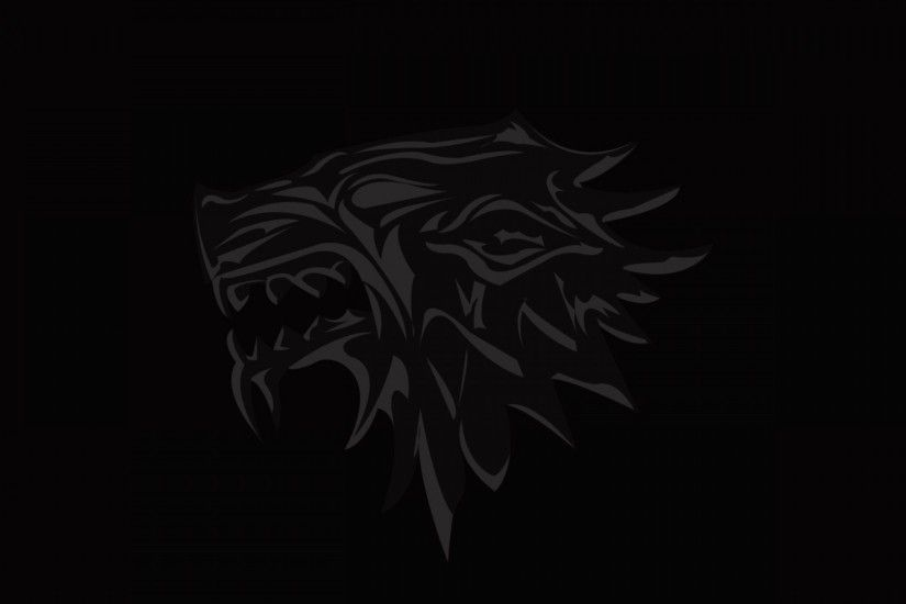 1920x1080 Wallpaper house of stark, game of thrones, logo, emblem, wolf
