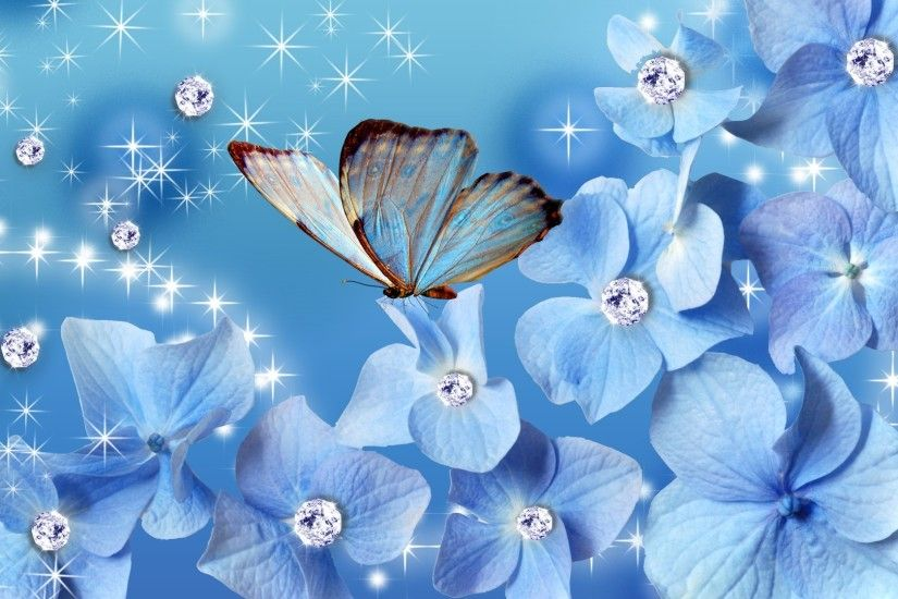 3d abstract butterfly wallpapers blue.