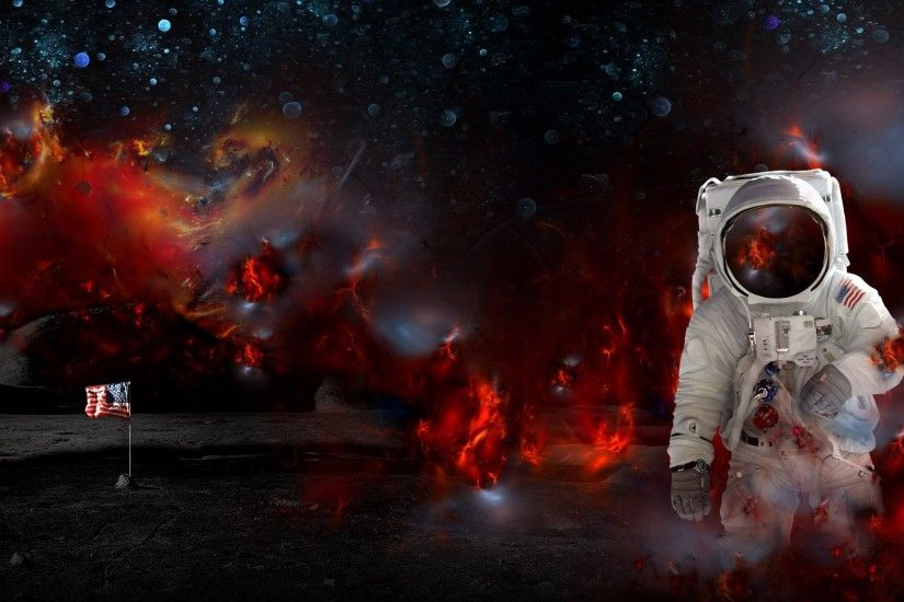 View, download, comment, and rate this 1920x1080 Astronaut Wallpaper -  Wallpaper Abyss