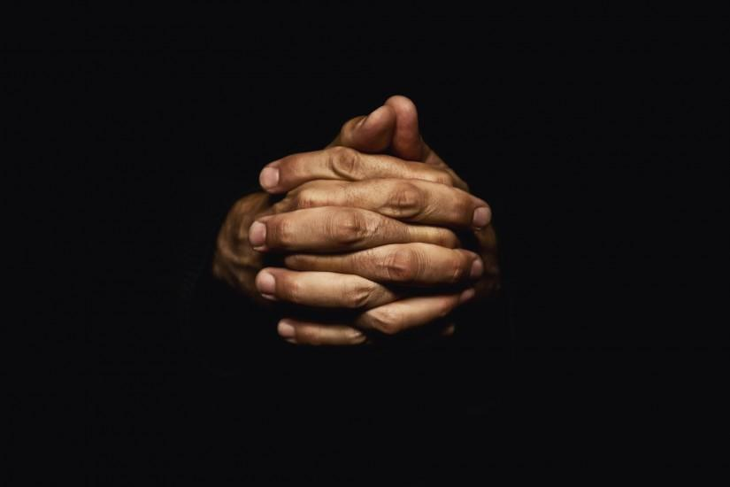Download image Praying Hands Black Background PC, Android, iPhone and .