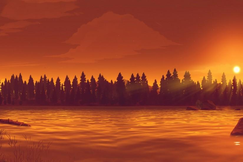 firewatch wallpaper 3238x1251 for windows 10