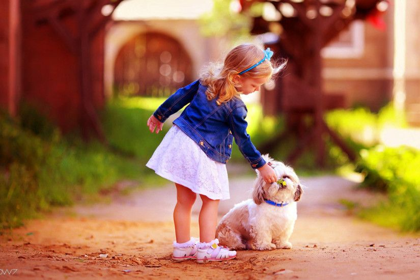 girl with cute dog friendship hd wallpaper