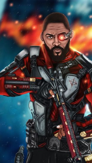 Will Smith Deadshot Artwork 4k (Iphone 7,6s,6 Plus, Pixel xl ,One Plus  3,3t,5)