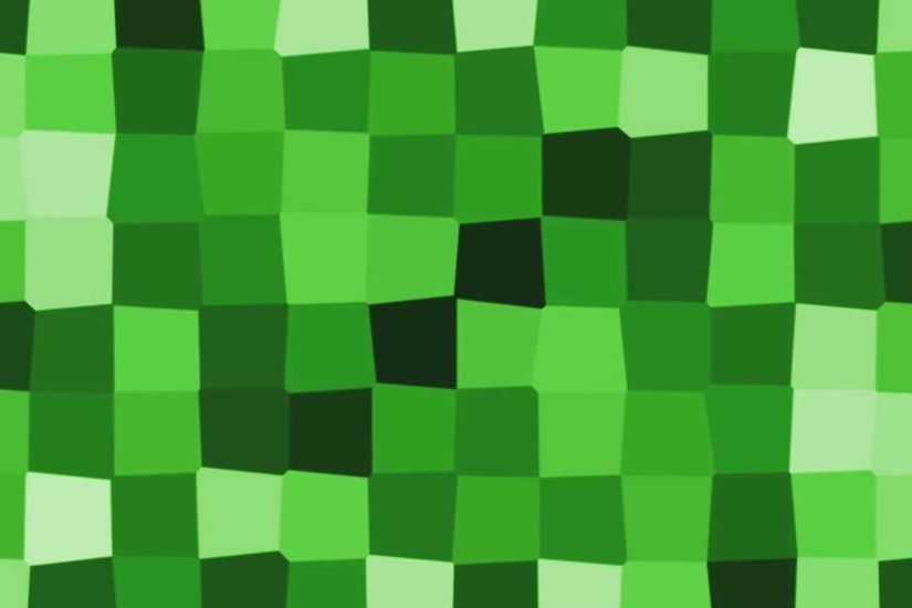 abstract cartoon cube mosaic motion background loop Green minecraft style  Motion Background - VideoBlocks