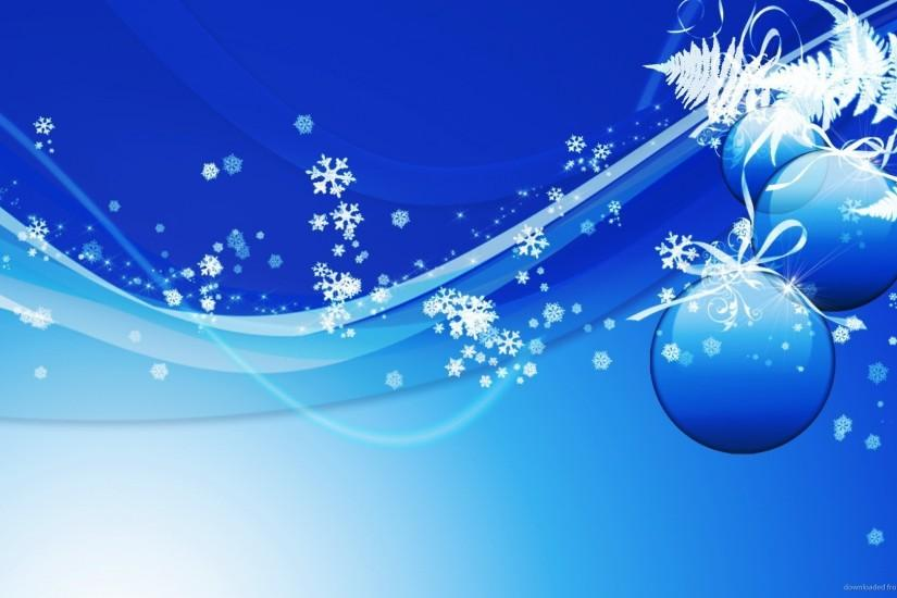 HD Blue Design Christmas Background Wallpaper