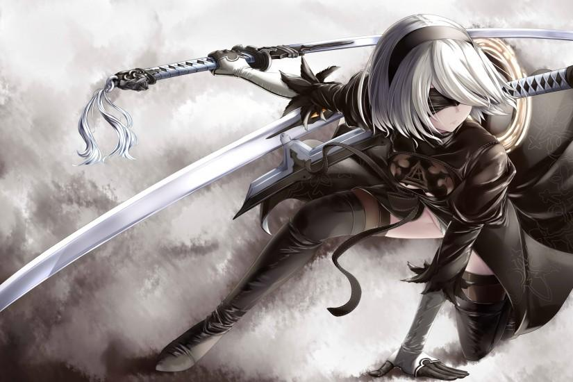 nier automata wallpaper 3500x2031 for ipad 2