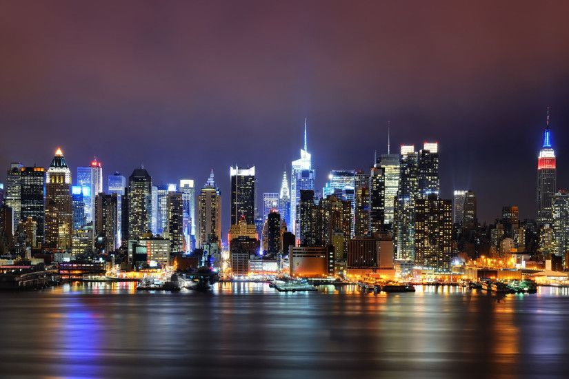 New York City Night Lights Wallpaper