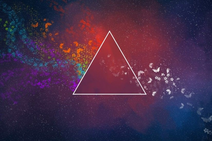 Download Wallpaper 3840x2160 Pink floyd, Triangle, Space, Planet .