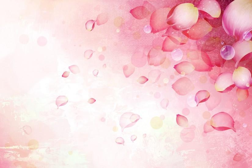 pink flower ppt backgrounds