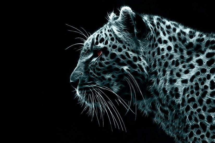 Digital Leopard Dark Wireframe 1920x1080 HD Image Abstract & 3D