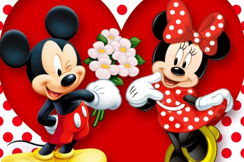 Preview wallpaper minnie mouse, mickey mouse, mouse 1920x1080