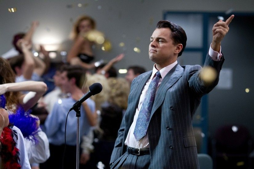 Leonardo DiCaprio in The Wolf Of Wall Street Movie HD Images Background