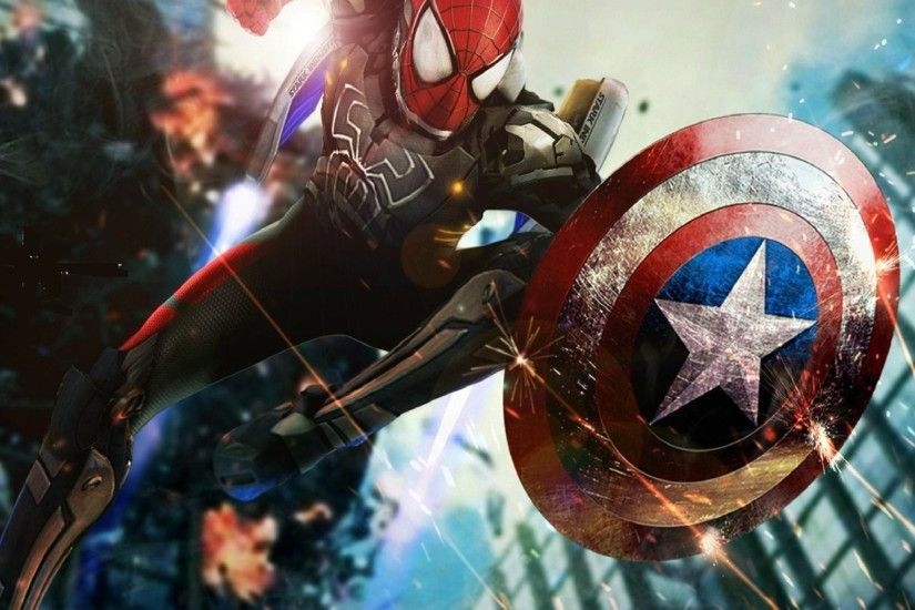 Spiderman or Captain America? Tap to see more Civil War: Captain America  iPhone / iPad / Android wallpapers, backgrounds, fondos.