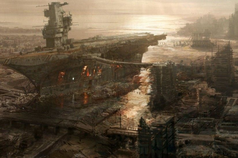 Destroyed Anime <b>City</b> Background | Gallery