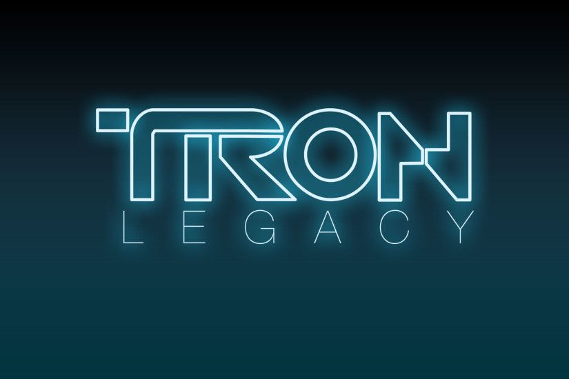 Disney's Tron: Legacy Movie Logo wallpaper - Click picture for high  resolution HD wallpaper