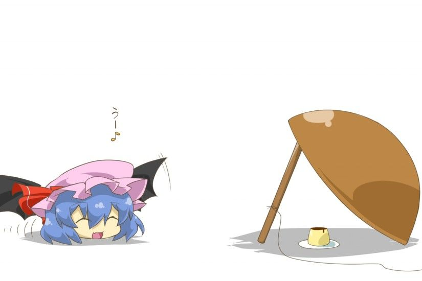 3840x2160 Wallpaper chibi, haipa okara, remilia scarlet, sh, anime, blue  hair