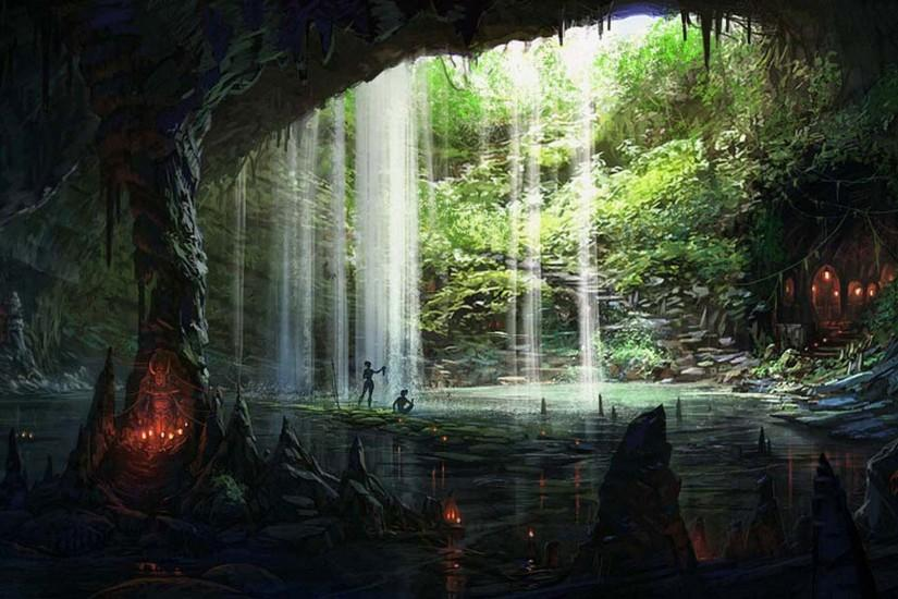Cave Full HD Wallpaper