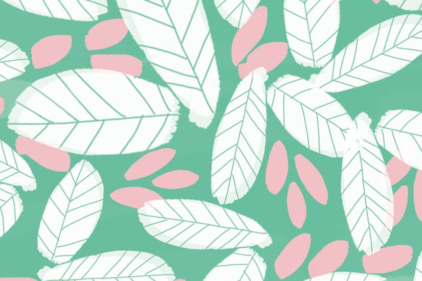 Download your free illustrated leaf wallpaper for iPads