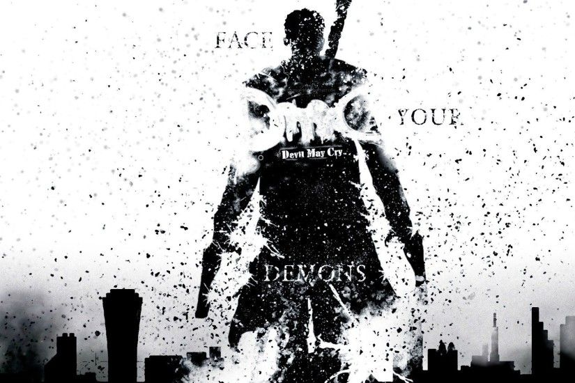 face your demons wallpaper dante dmc devil may cry