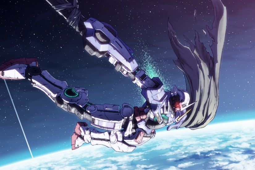 Mobile Suit Gundam 00, Exia, Mecha, Sci-fi, Earth, Falling