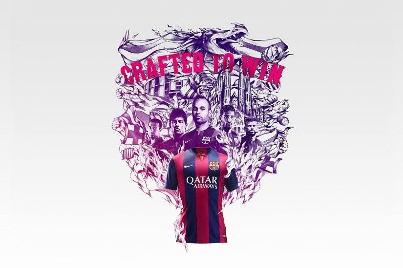 FC Barcelona 2014-2015 New Nike Home Jersey Wallpaper Wide or HD .