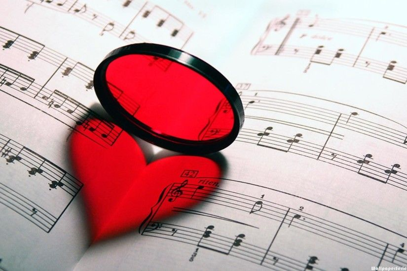 Download: Music Notes Heart Book Shadow