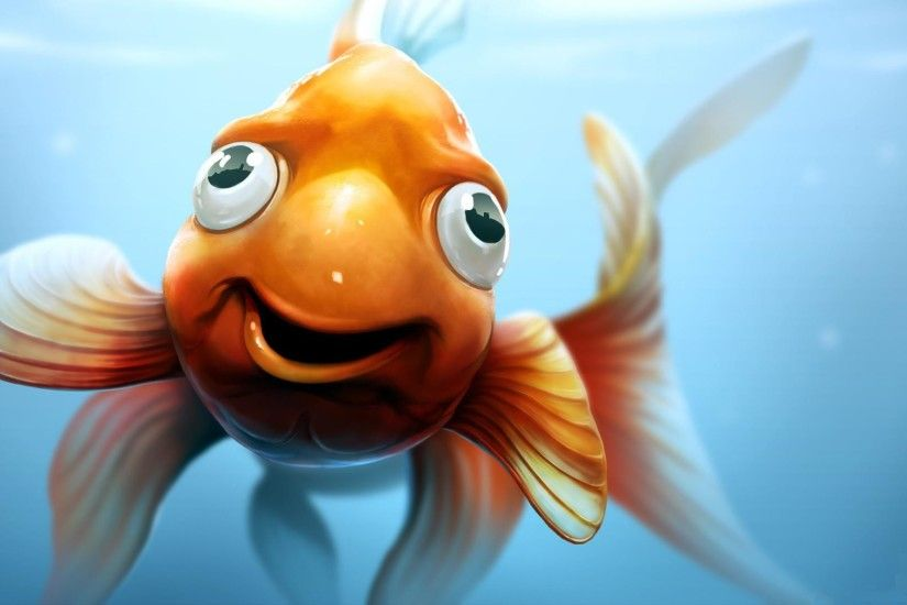 wallpaper.wiki-3D-Goldie-Fish-Funny-Gold-Animated-