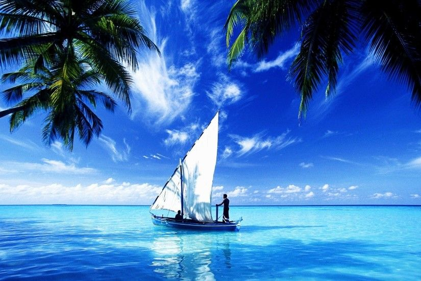 Ocean-Scene-Wallpaper-Sail-Boat