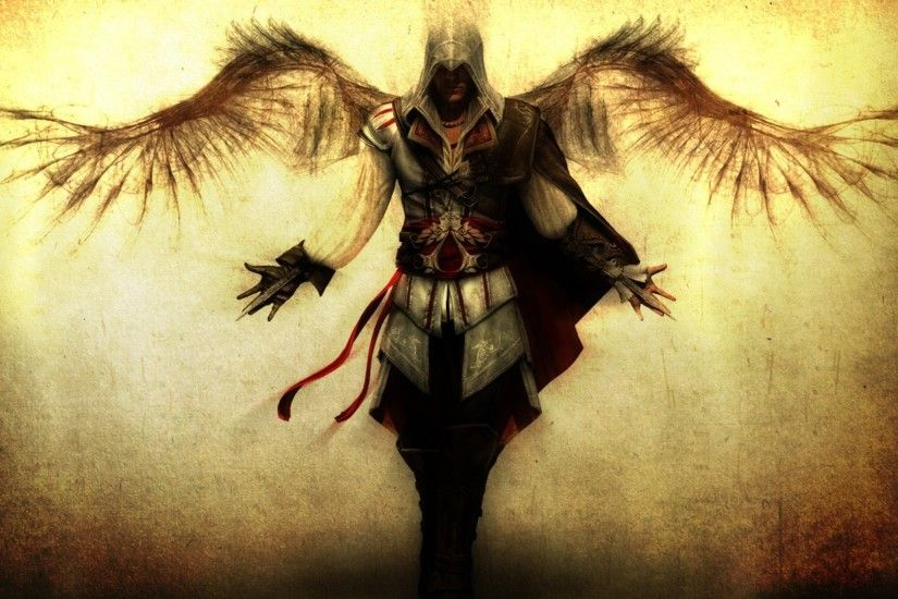 Altair Ibn La Ahad Assassins Creed Death Angel Video Games Wings
