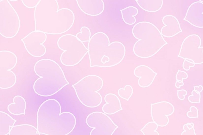 Pale Pink Heart Background